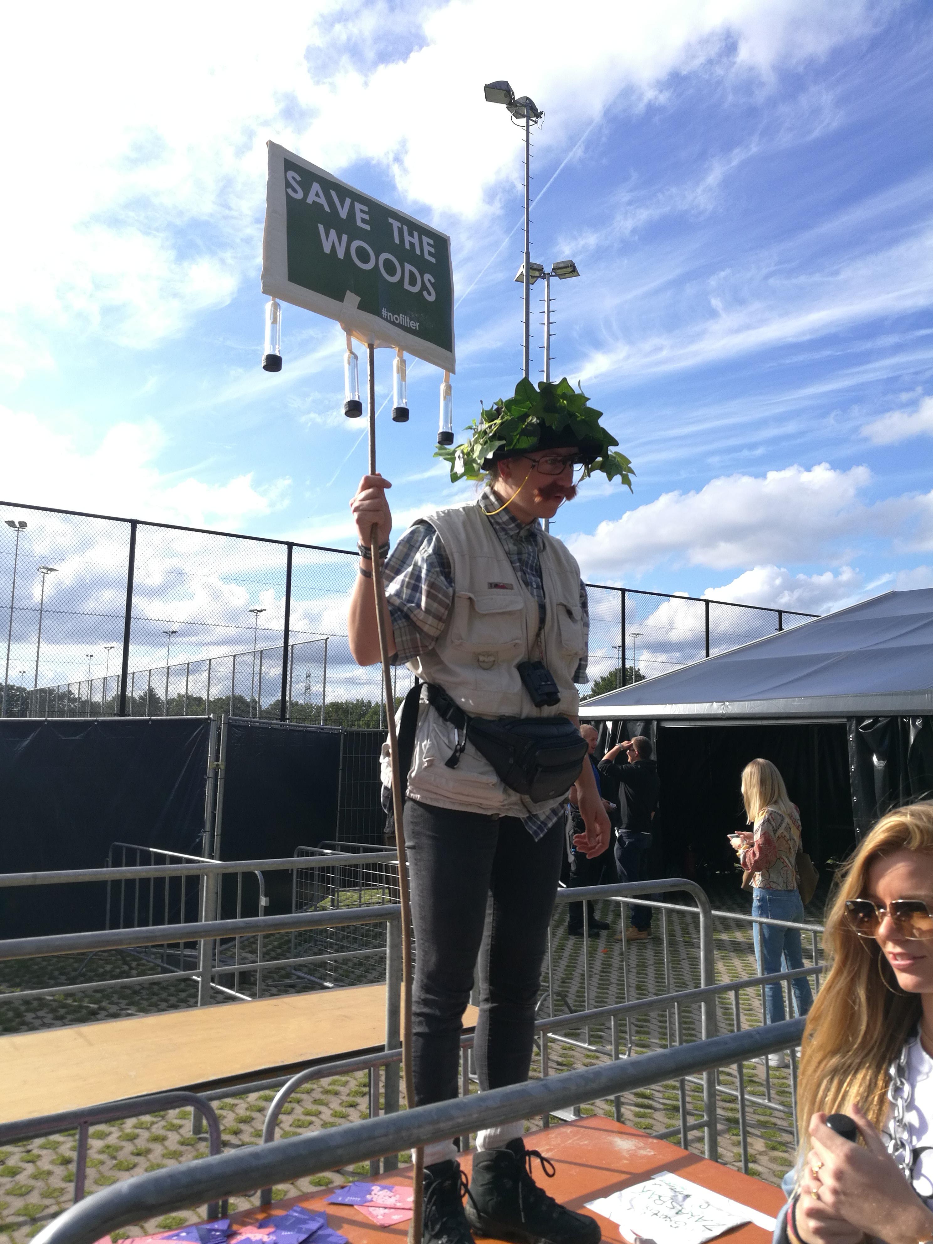 Natuurlijkfiguurlijk Boswachter Bram op Into The Woods festival 2019